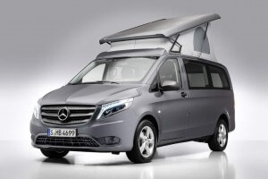 SCA-Aufstelldach hinten öffnend für Mercedes-Benz V-Klasse und Vito Rear-opening SCA pop-up roof for Mercedes-Benz V-Class and Vito